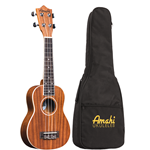 Amati UK217C Mahogany Uke w/ White Binding