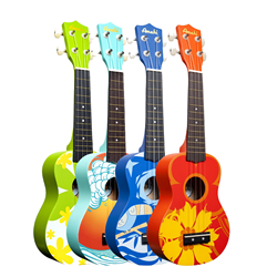 Amati DDUK Painted Pattern Ukuleles
